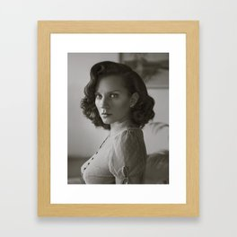 Dotty Blouse Portrait Framed Art Print