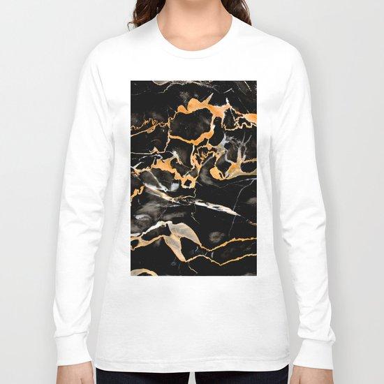 Black & gold marble Long Sleeve T-shirt