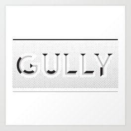 Gully Art Print