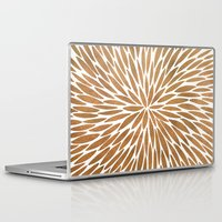 rose gold Laptop & iPad Skins featuring Rose Gold Burst by Cat Coquillette