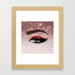 Glam diamond lashes eye #2 Framed Art Print