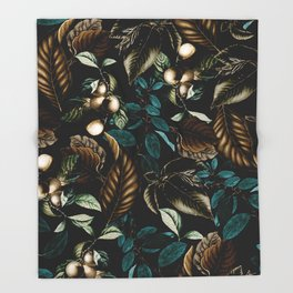 Tropical Night Throw Blanket