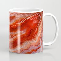 agate Mugs featuring Red Agate by Kristiana Art Prints