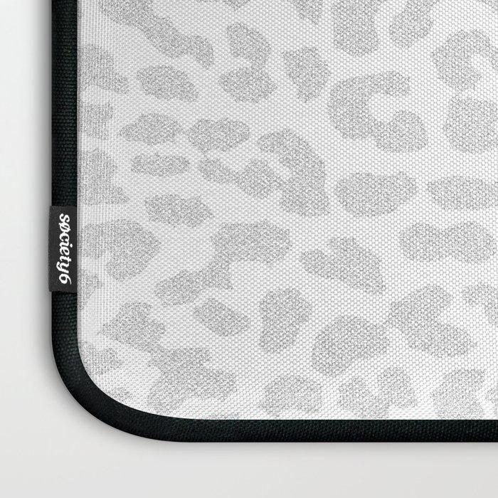Pale Gray Leopard Laptop Sleeve