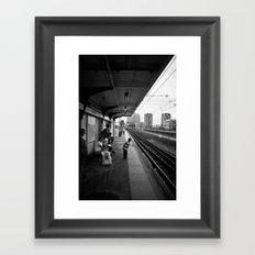 Waiting for Train Framed Art Print