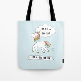 I'm a gym unicorn Tote Bag