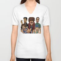 cargline V-neck T-shirts featuring Gorillaz 1D by cargline