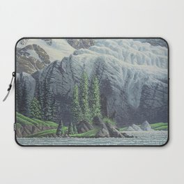 HIDDEN TOWER IN THE INLAND PASSAGE VINTAGE OIL PAINTING Laptop Sleeve
