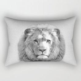 Lion - Black & White Rectangular Pillow