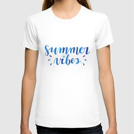 Summer Vibes Hand Lettering T-shirt