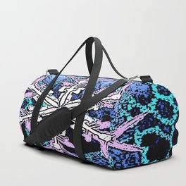 GRAPHIC WINTER SNOWFLAKE PEN & INK DRAWING Duffle Bag