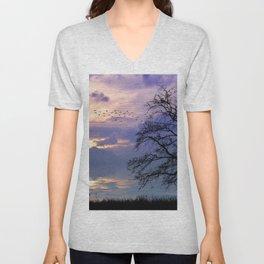 Lilac Sunset Unisex V-Neck