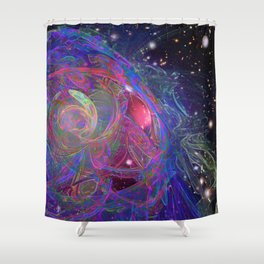 The Expanding Universe Shower Curtain