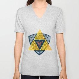 symbol computer game sign trinity Unisex V-Neck