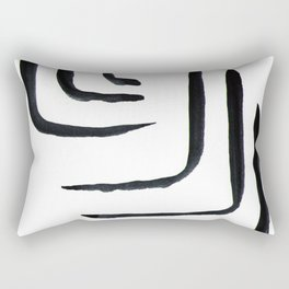 Watercolor drawing Colors Minimalist  Midcentury Modern Colorful Abstract Pop Art Space Age Fun Brig Rectangular Pillow