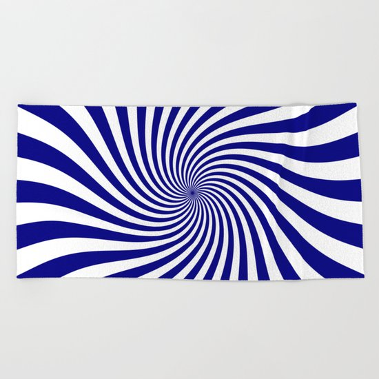 Swirl (Navy Blue/White) Beach Towel