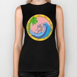 Girls Surf Too,solid color Biker Tank