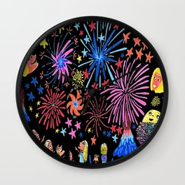 let's go see fireworks Wall Clock