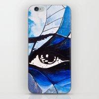 evil eye iPhone & iPod Skins featuring Evil eye by Alexandra Madhavan