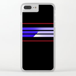 Team Colors 5...Blue.red Clear iPhone Case