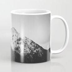 Black and white snowy mountain Mug
