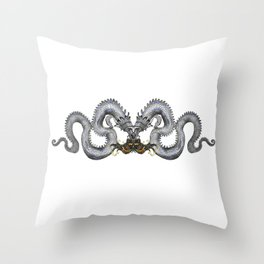 Blue Dragon Throw Pillow