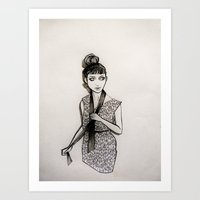 grimes Art Prints featuring Grimes by Justine Lecouffe