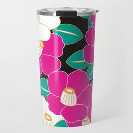 Shades of Tsubaki - Pink & Black Travel Mug