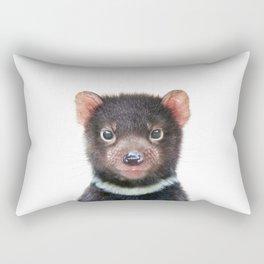 Tasmanian Devil Art Print by Zouzounio Art Rectangular Pillow