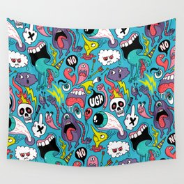 Doodled Pattern Wall Tapestry