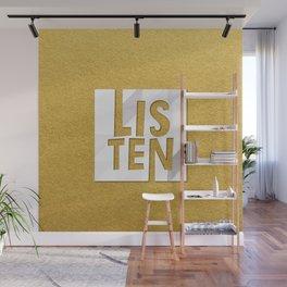 LISTEN #GoldenPsalms Wall Mural
