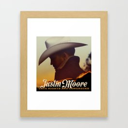 JUSTIN MOORE LATE NIGHTS AND LONGNECKS TOUR DATES 2019 JARJIT Framed Art Print