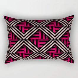 Op art rhombuses on fire Rectangular Pillow