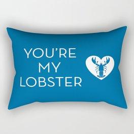 You're My Lobster - Deep Blue Rectangular Pillow