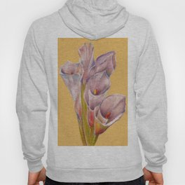 Calla Lily flowers still life drawing by pastel Hoody