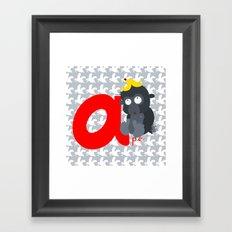 a for ape Framed Art Print