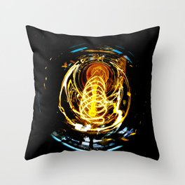 Industrial Filament Light Throw Pillow