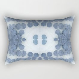Sea Shell Disco Powder Blue Rectangular Pillow