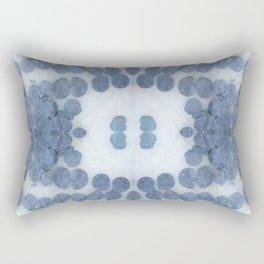 Sea Shell Disco Powder Blue Rectangular Pillow