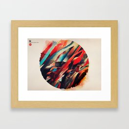 64 Watercolored Lines Framed Art Print