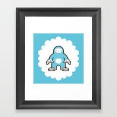 blue gigant Framed Art Print