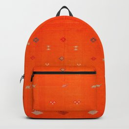 Traditional Anthropologie Moroccan orange Artwork. Art Print Backpack