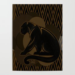 The Roaring Black Panther by IxCO Poster