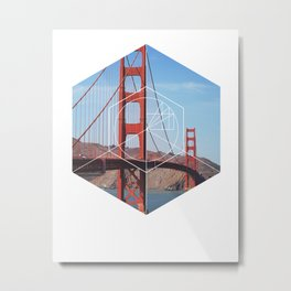 Golden Gate Bridge - Geometric Photography Metal Print