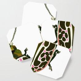 Green, White, Pink Beetle Coaster