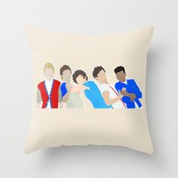 one direction Throw Pillows featuring One Direction by Natasha Ramon