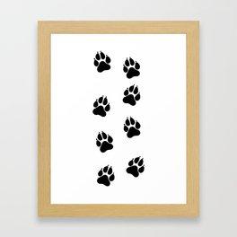 Simba's Paws Framed Art Print