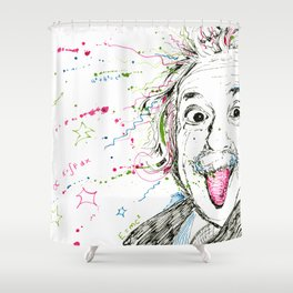 Einstein! Shower Curtain