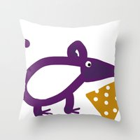 cheese Throw Pillows featuring Cheese? by Stephanie Cole CREATIONS