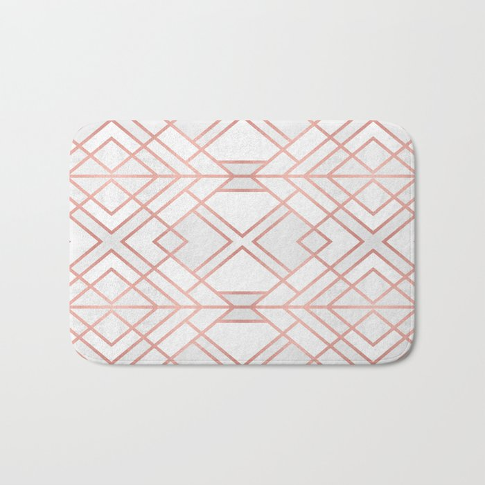 Geo Rose Gold Bath Mat